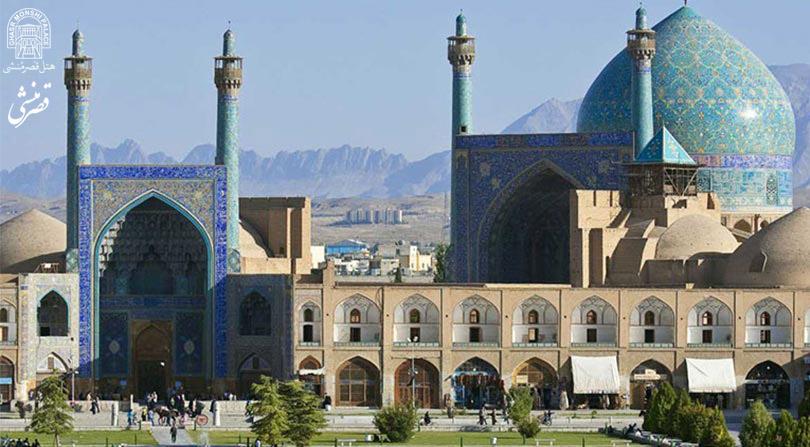 نمای بیرونی مسجد شاه عباس