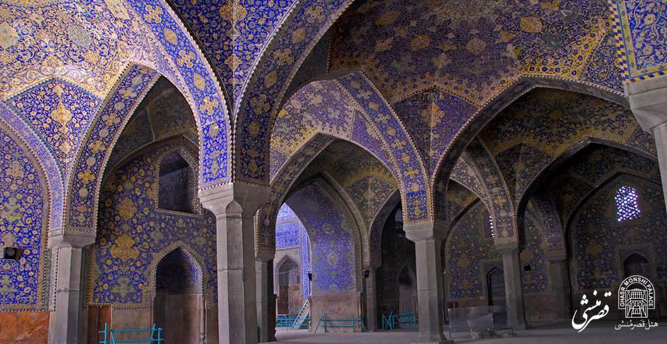 نمای داخلی مسجد شاه عباس