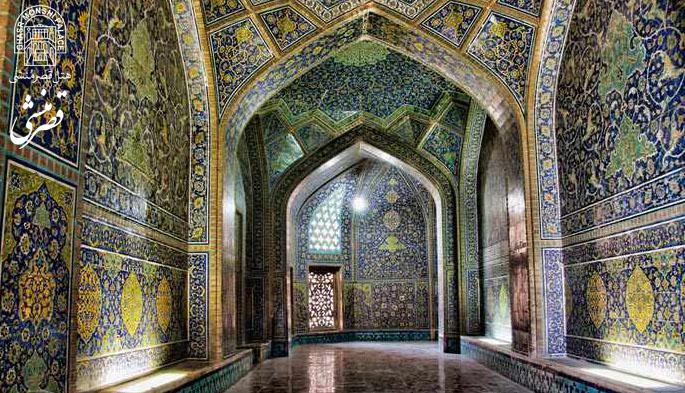 کاشی کاری مسجد شیخ لطف الله اصفهان